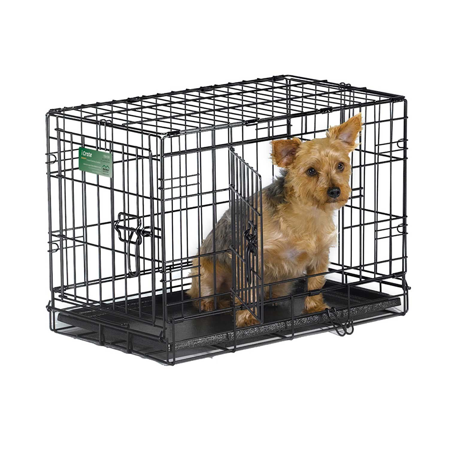 Midwest Icrate Double Door Folding Dog Crates The Dog Crate Comes To You Equipped With Every Feature You Can Think Of Dog Playpen Wire Dog Crates Dog Crate