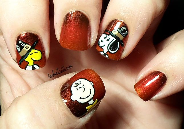 12 Diy Nail Art Ideas For Thanksgiving And Fall Pinterest