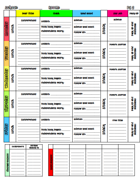 study planner template