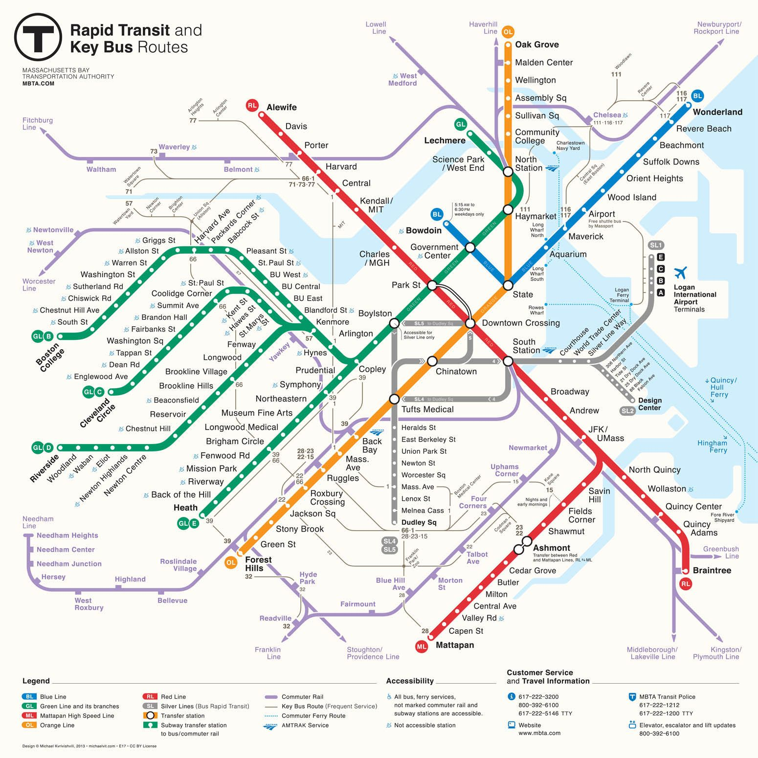 Boston Subway Map Pdf | Smoothoperators