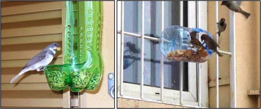 Cómo Hacer Un Comedero Para Aves Utilizando Botellas Plásticas Si Estabas Buscando Alguna Manera Para Cr Comedero Comederos Para Pájaros Botellas Recicladas