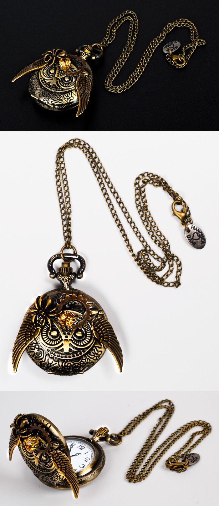 STEAMPUNK LUXURY OWL WATCH by Francesca Dani