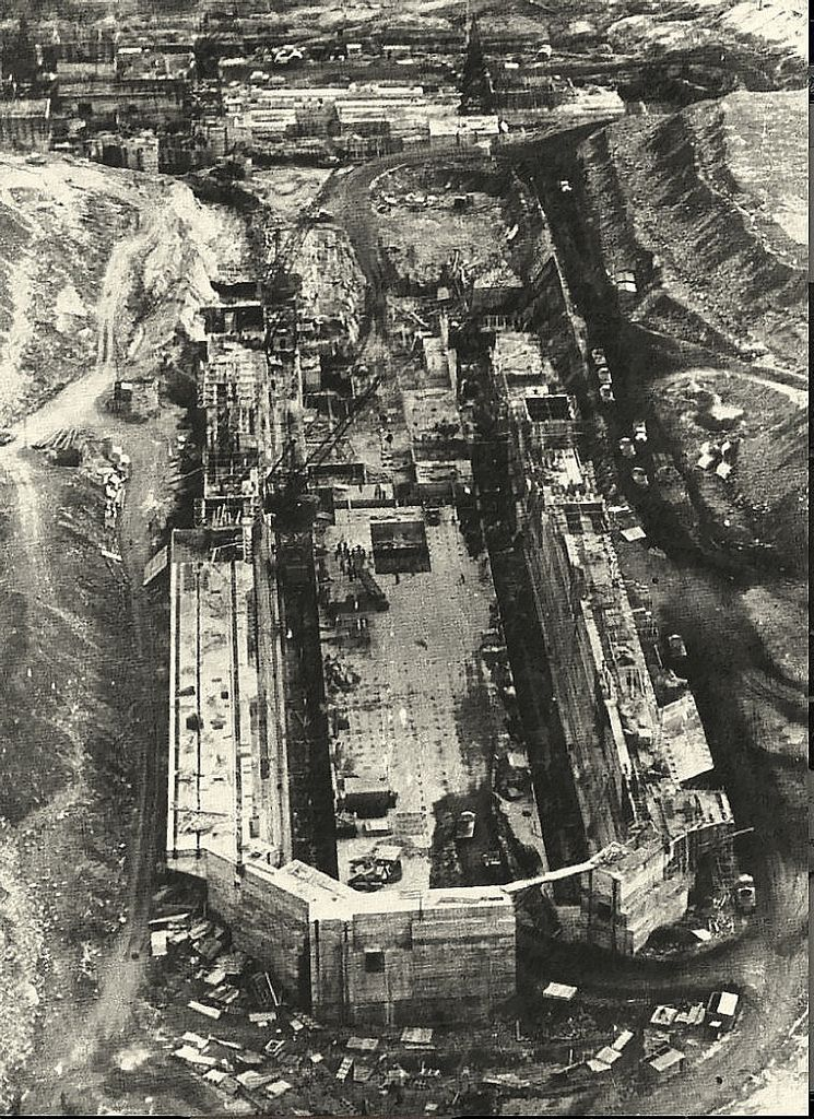 Sturrock dry dock under construction 1943.