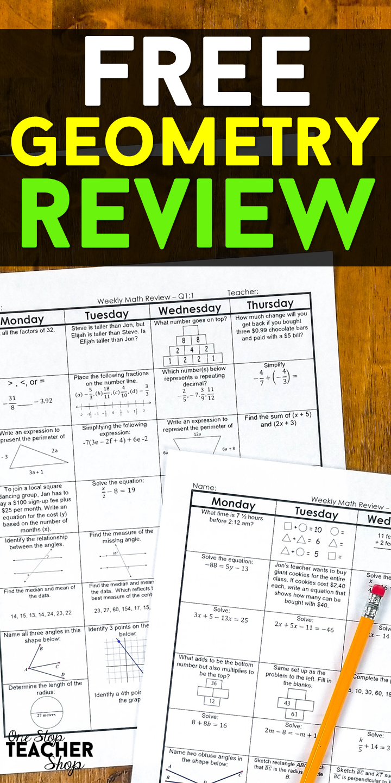geometry homework book answers