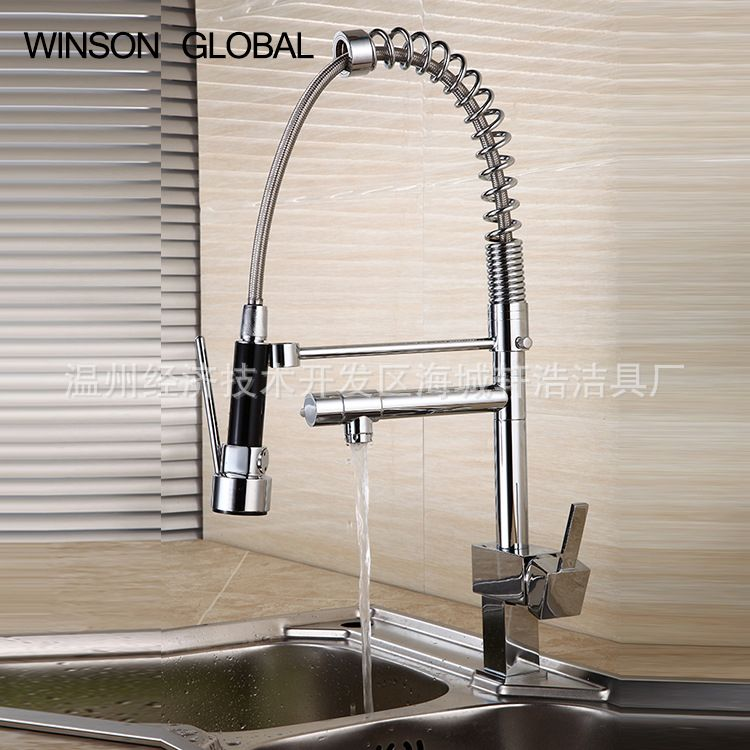 Faucets For Kitchen Brass Sanitary Ware Grifo Pull Down Faucet