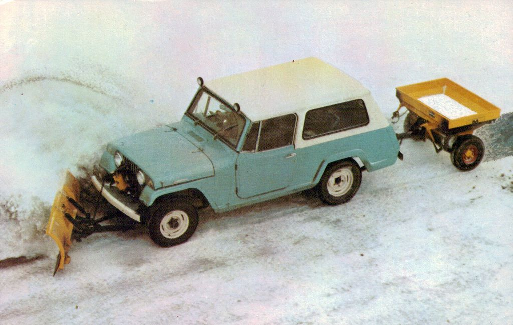 Willys Jeep Plowing Snow 1967 Jeepster Commando With Meyer Snow Plow And Ice Control Equipment Willys Jeep Willys Snow Plow
