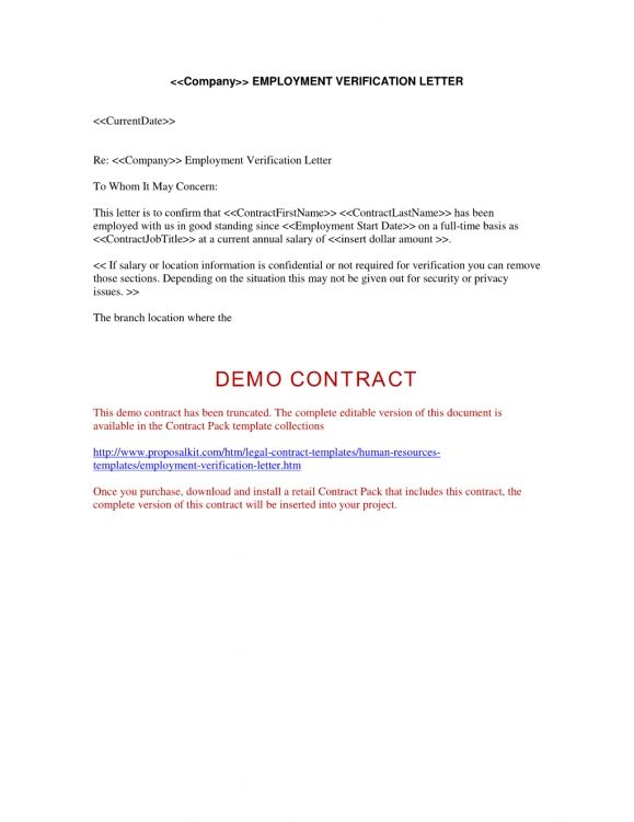 letter human resources letters forms employment verification - employment verification letter