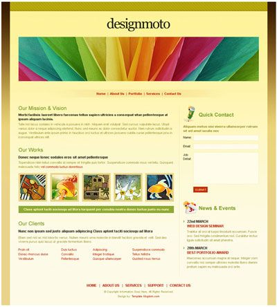 Premium Free Dreamweaver Templates Downloads Website Template Business Website Templates Dreamweaver Templates