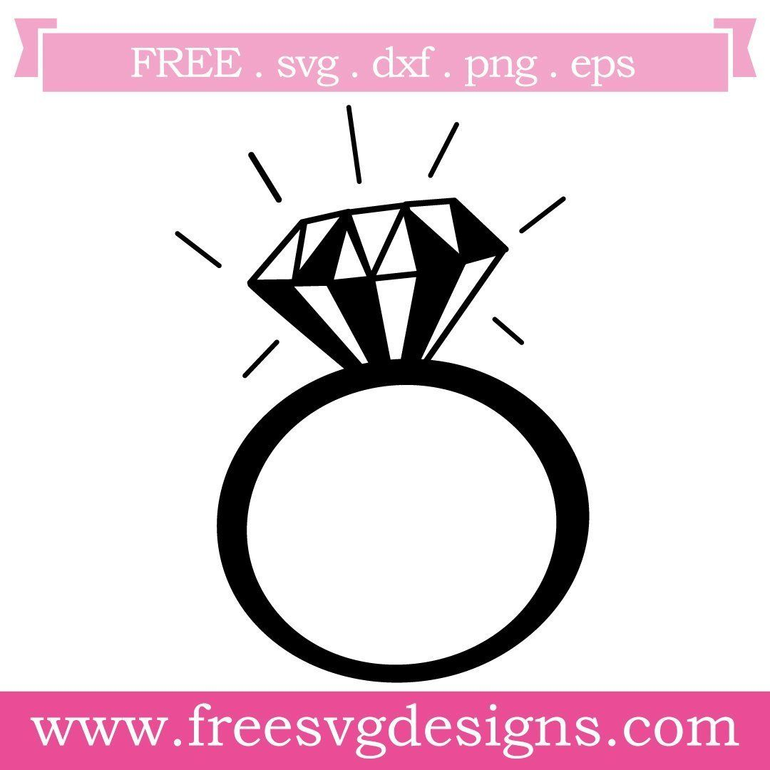 Free Svg Files Svg Png Dxf Eps Diamond Ring Monogram Frame Free Svg Svg Free Files Svg