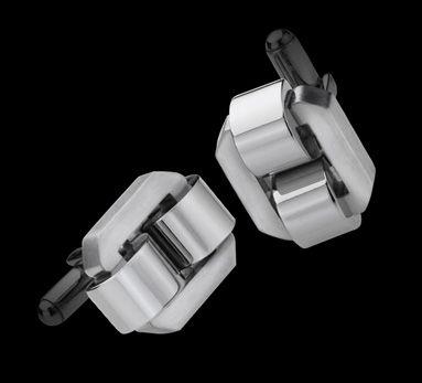 Linked Cufflinks Silver