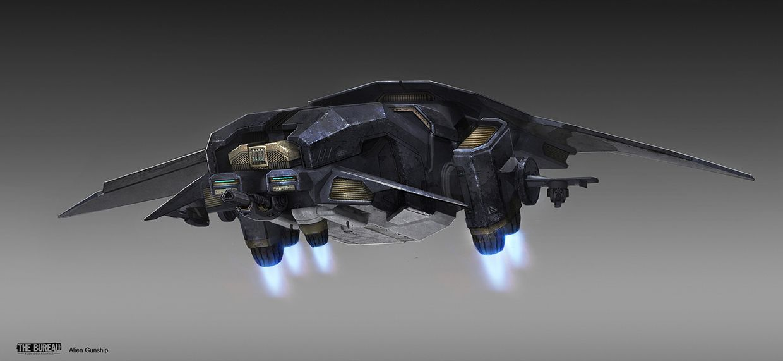 Concept ships the bureau xcom declassified alien gunship for Bureau concept