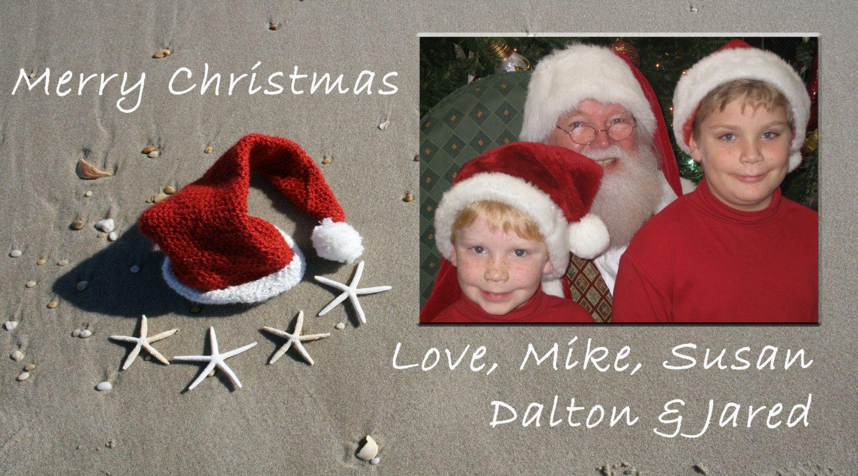 Custom Beach Christmas Card Photo