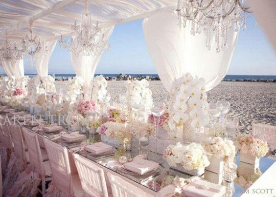 Elegant Wedding Beach Table Settings Wedding Ideas Country