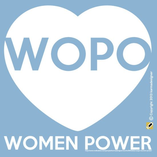 """WOPO WOMEN POWER"" T-Shirts & Hoodies by karmadesigner 