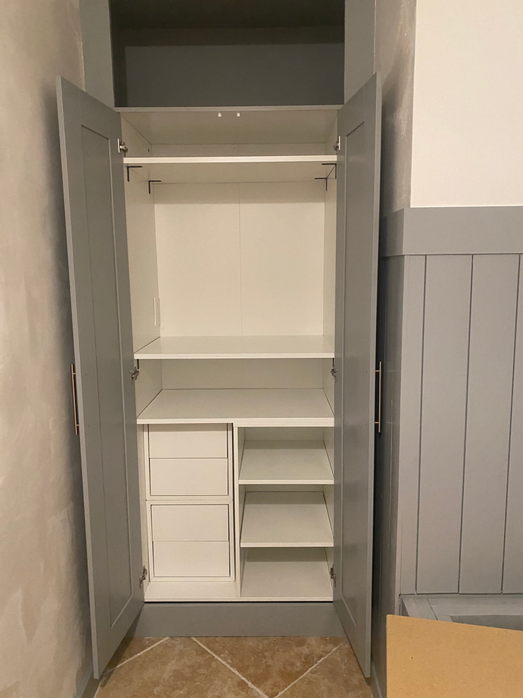 IKEA BRIMNES HACK TO BUILT IN CABINET