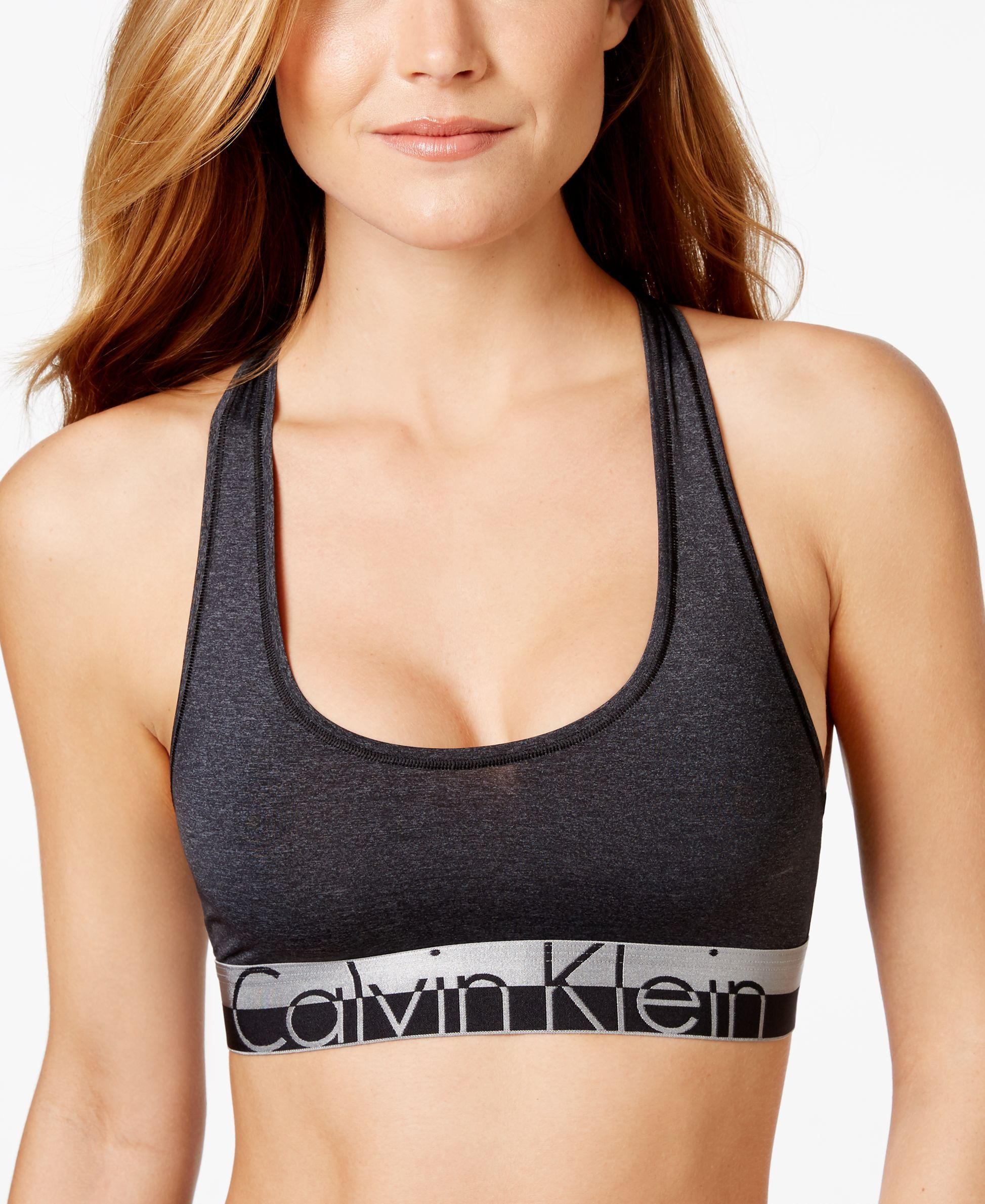0917eb3b2a Calvin Klein Magnetic Logo Bralette QF1335 - Calvin Klein - Women - Macy s