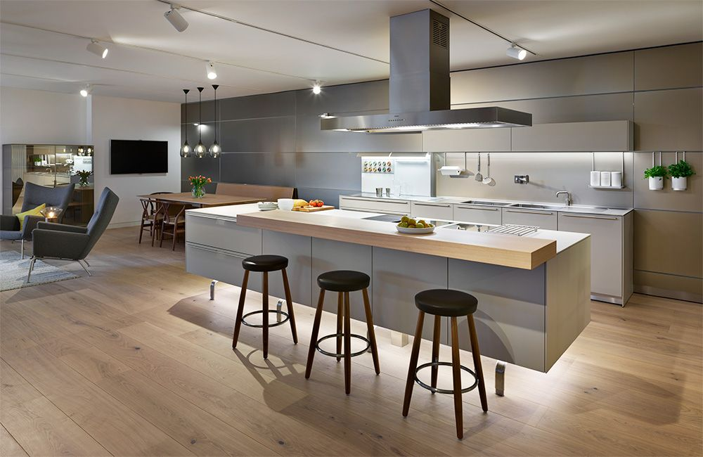 Bulthaup B3 Kitchen With Large Island And Gaggenau Appliances