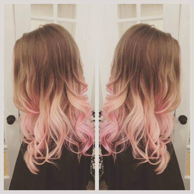 Image Result For Brown Hair With Light Pink Balayage Pink Hair For