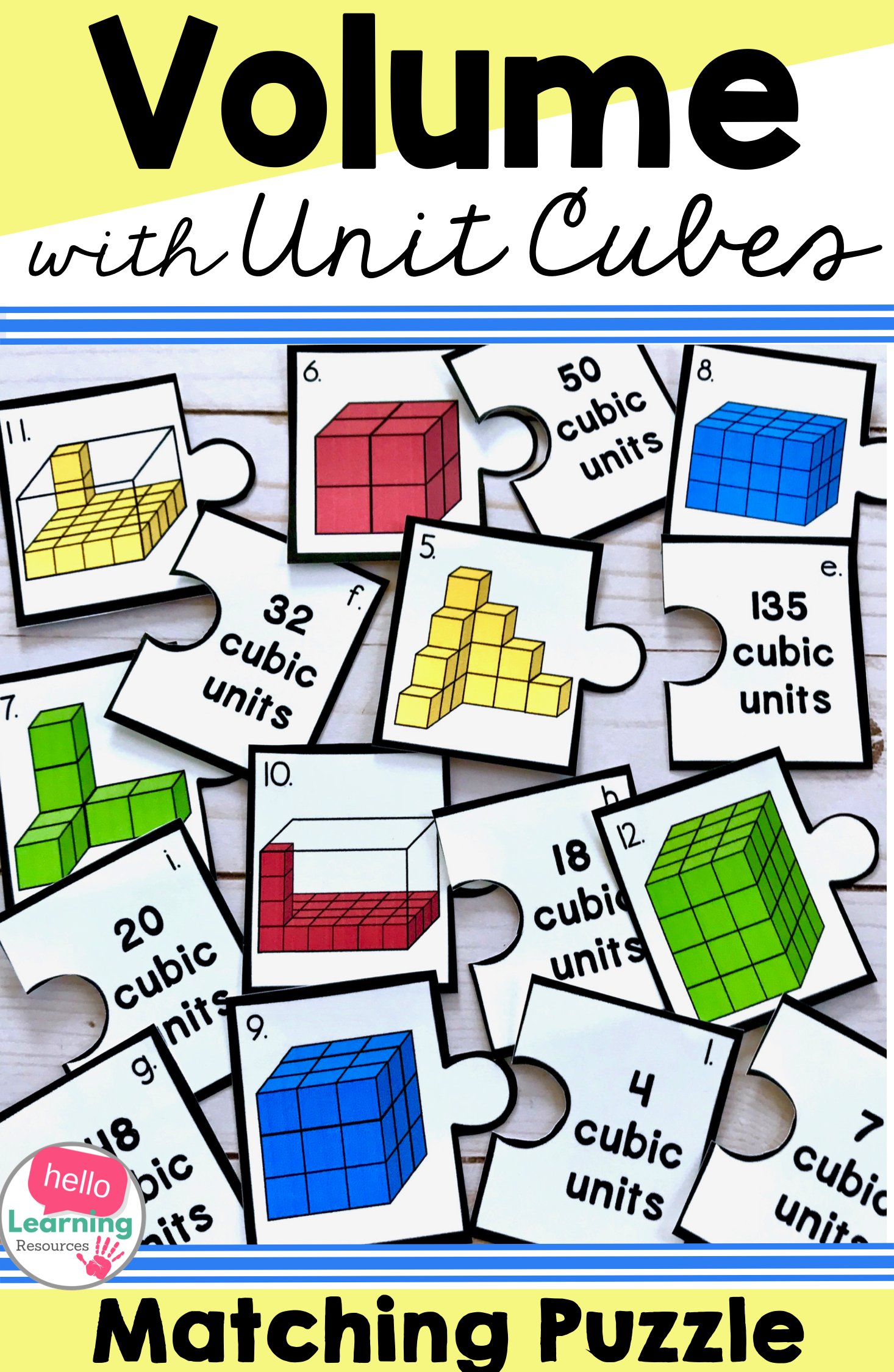 Volume With Unit Cubes Activity