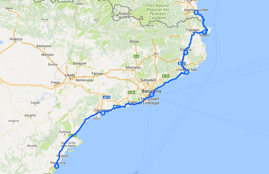 South Coast Of Spain Map.Road Trip The South Coast Of Spain In A Campervan Or Motorhome And