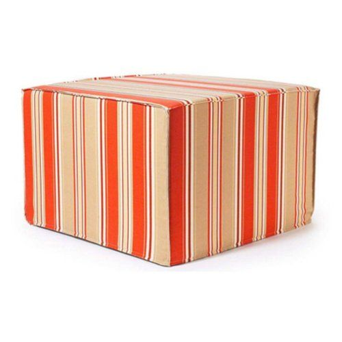Pin it! :) Follow us :)) zPatioFurniture.com is your Patio Furniture Gallery ;) CLICK IMAGE TWICE for Pricing and Info :) SEE A LARGER SELECTION of  patio ottoman  at http://zpatiofurniture.com/category/patio-furniture-categories/patio-ottoman/-  #home #patio #homedecor #patioottoman  - Orange Thick Stripes Ottoman « zPatioFurniture.com