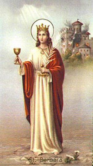 St Barbara Patron Saint Of Miners Saint Barbara Patron Saints Catholic Saints