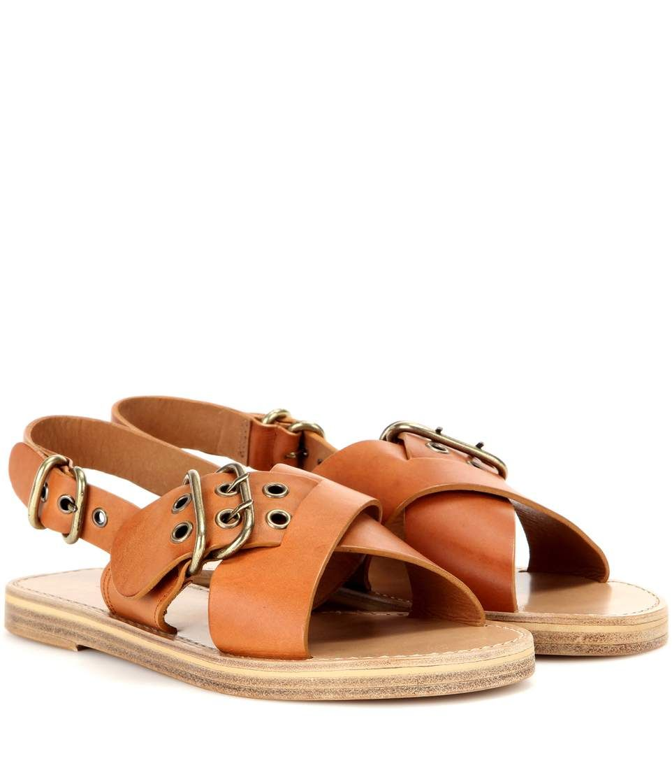 20a376ee330a Shop Étoile Jaden leather sandals presented at one of the world s leading  online stores for luxury fashion.