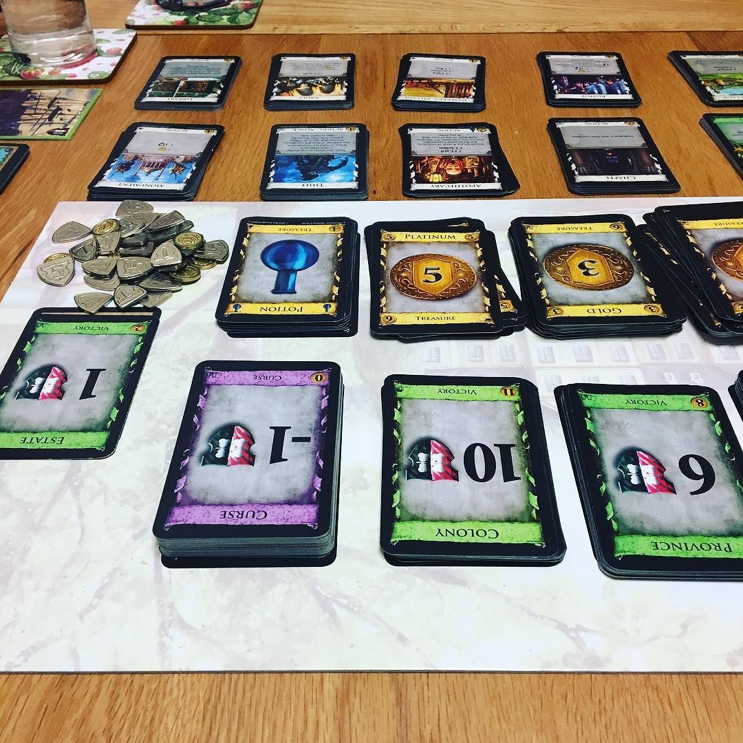 A fun evening ( last night ) spent playing dominion with