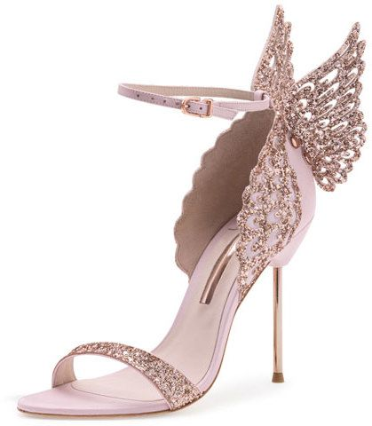 91e01c9c6d54 Sophia Webster Evangeline Glittered Butterfly Sandal, Pink | If the ...