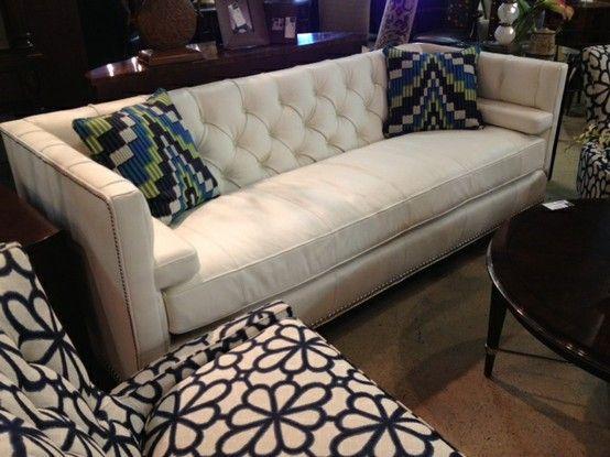Sensational Harden Furniture Cream Tufted Leather Sofa Buttery Leather Short Links Chair Design For Home Short Linksinfo