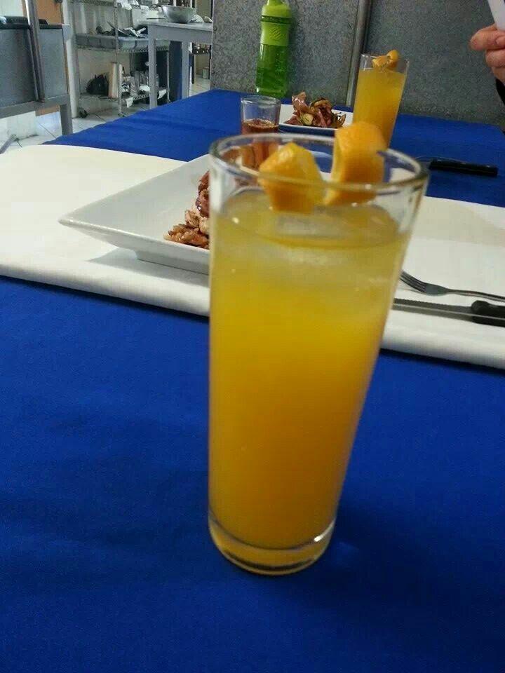 Destornillador Vodka Agua Mineral Jugo De Naranja Hielo Jugo De