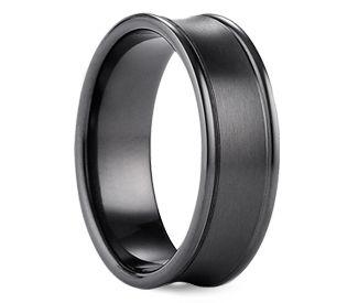 Wow Dark Grey Titanium Is The Best Black Titanium Wedding Bands Mens Wedding Rings Titanium Black Titanium Ring