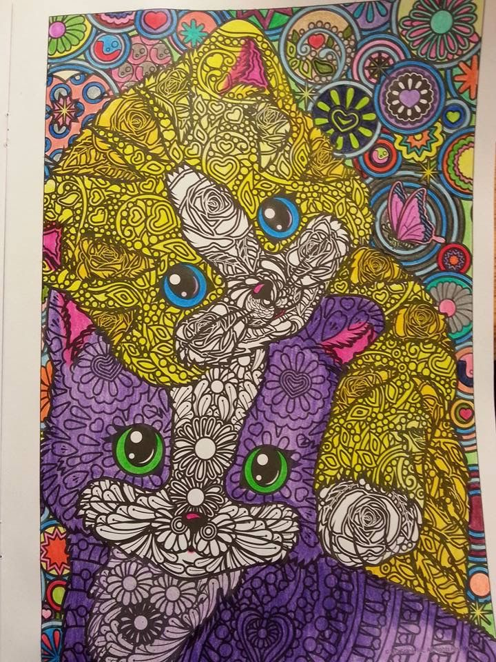 Lisa Frank Color Me Adult Coloring Book Colored Pinterest
