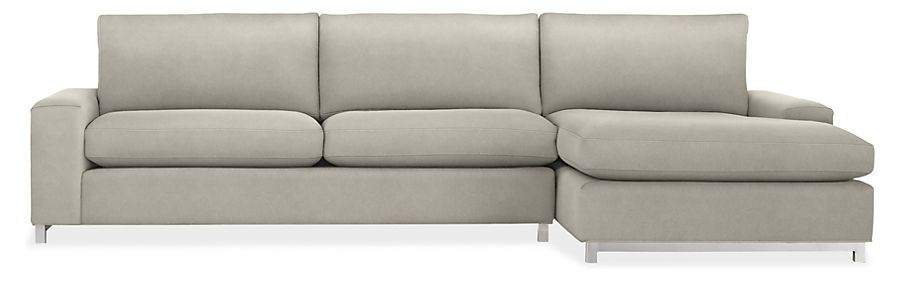 Klein 116 Sofa With Right Arm Chaise In Vick Grey 1899 Sofa