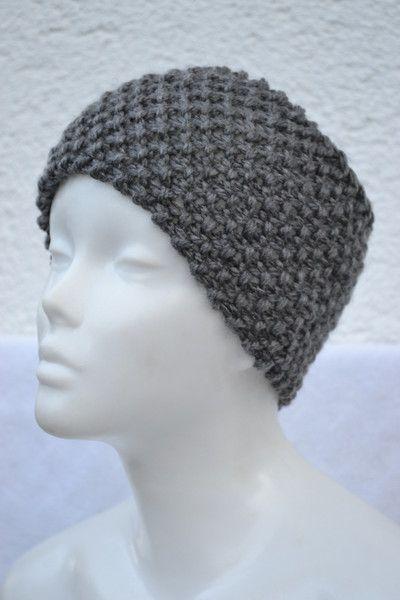 Stirnband Haarband Wollband grau gestrickt | Pinterest | Stirnband ...