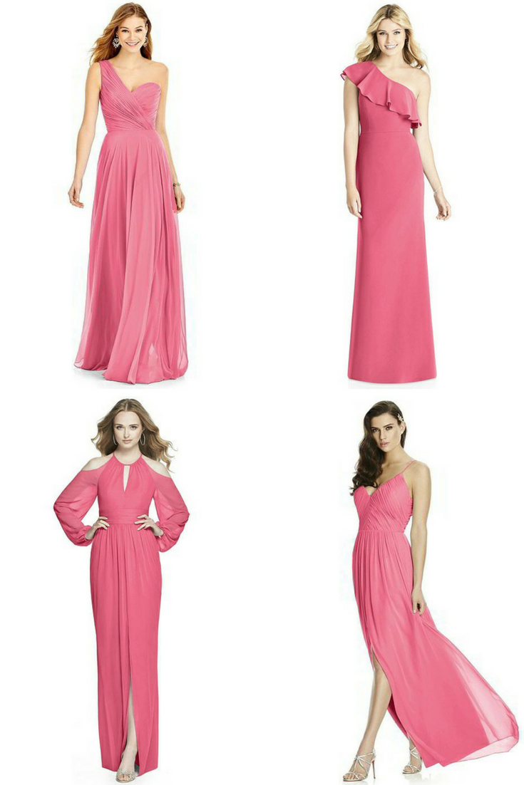 raspberry pink bridesmaid dresses | PINK BRIDESMAID DRESSES + ...