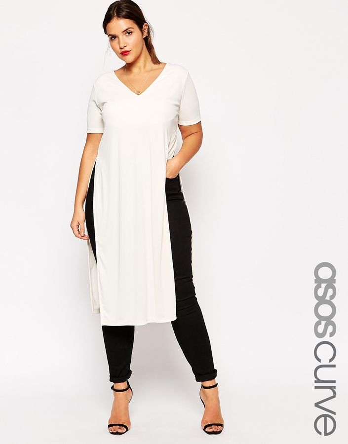 ASOS DESIGN Curve button front short sleeve midi smock dress - Navy Asos Curve