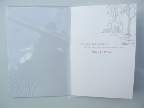 Disney Tigger Pooh Bear Birthday Card For A Brother By Hallmark