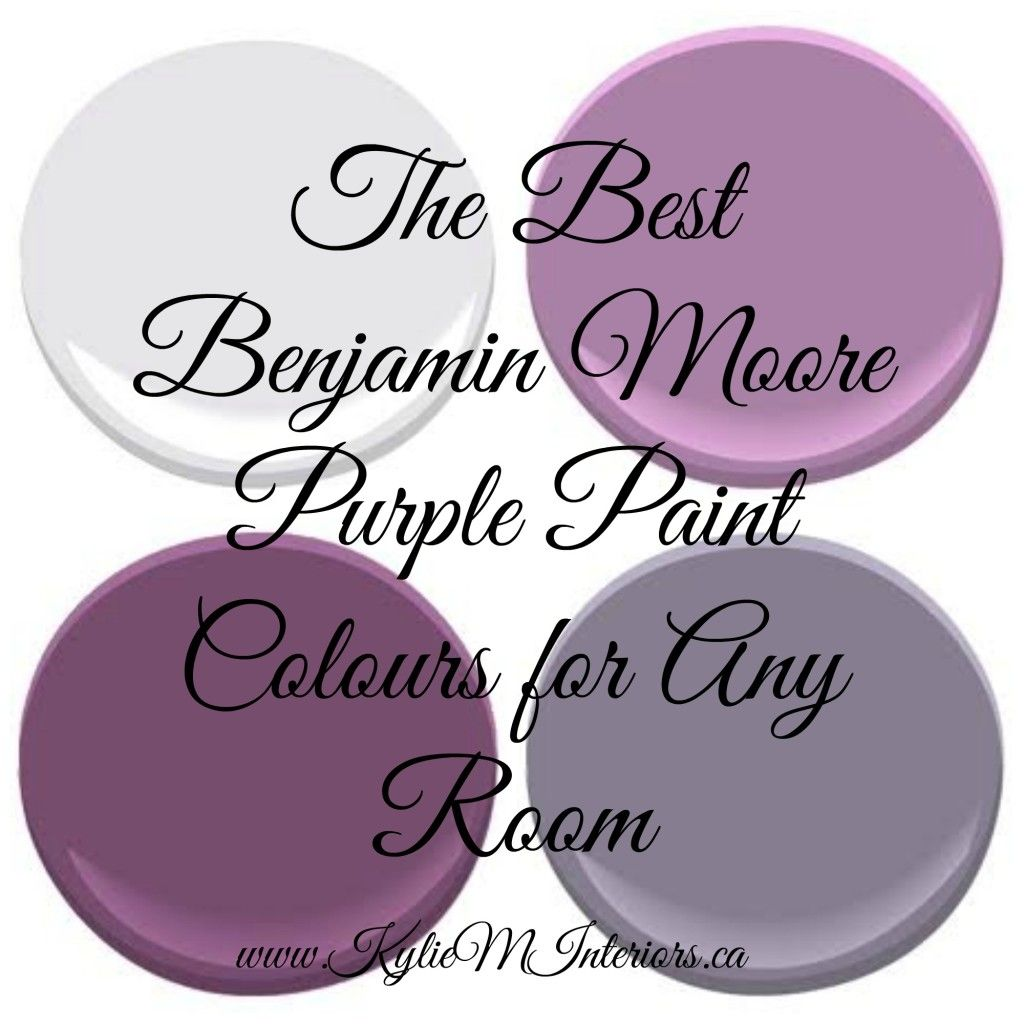 Purples Benjamin Moore The Best Most Por Purple Paint Colours For Any Room