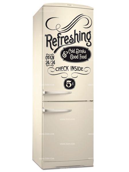Stickers Frigo Old Refreshing Cuisine Notre Maison En