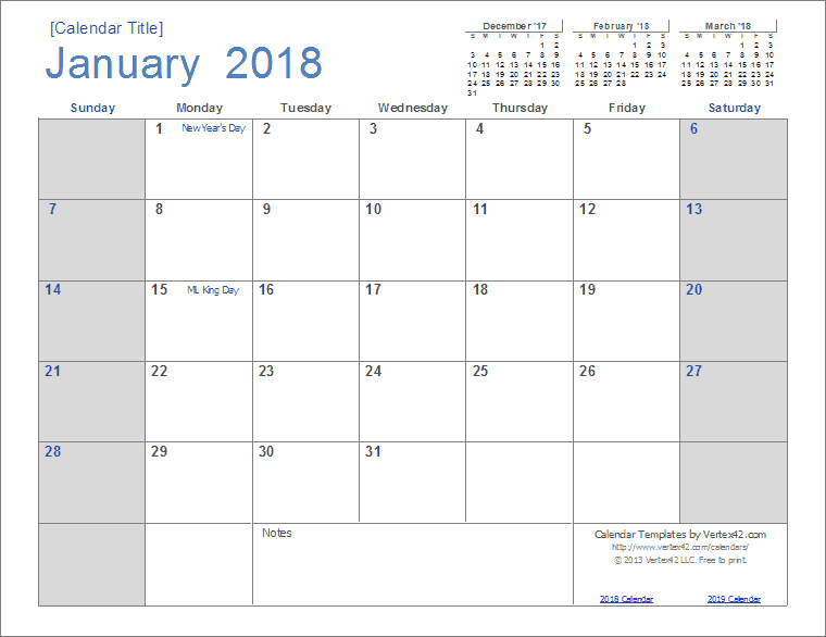 Download The  Calendar Light From VertexCom  Printable
