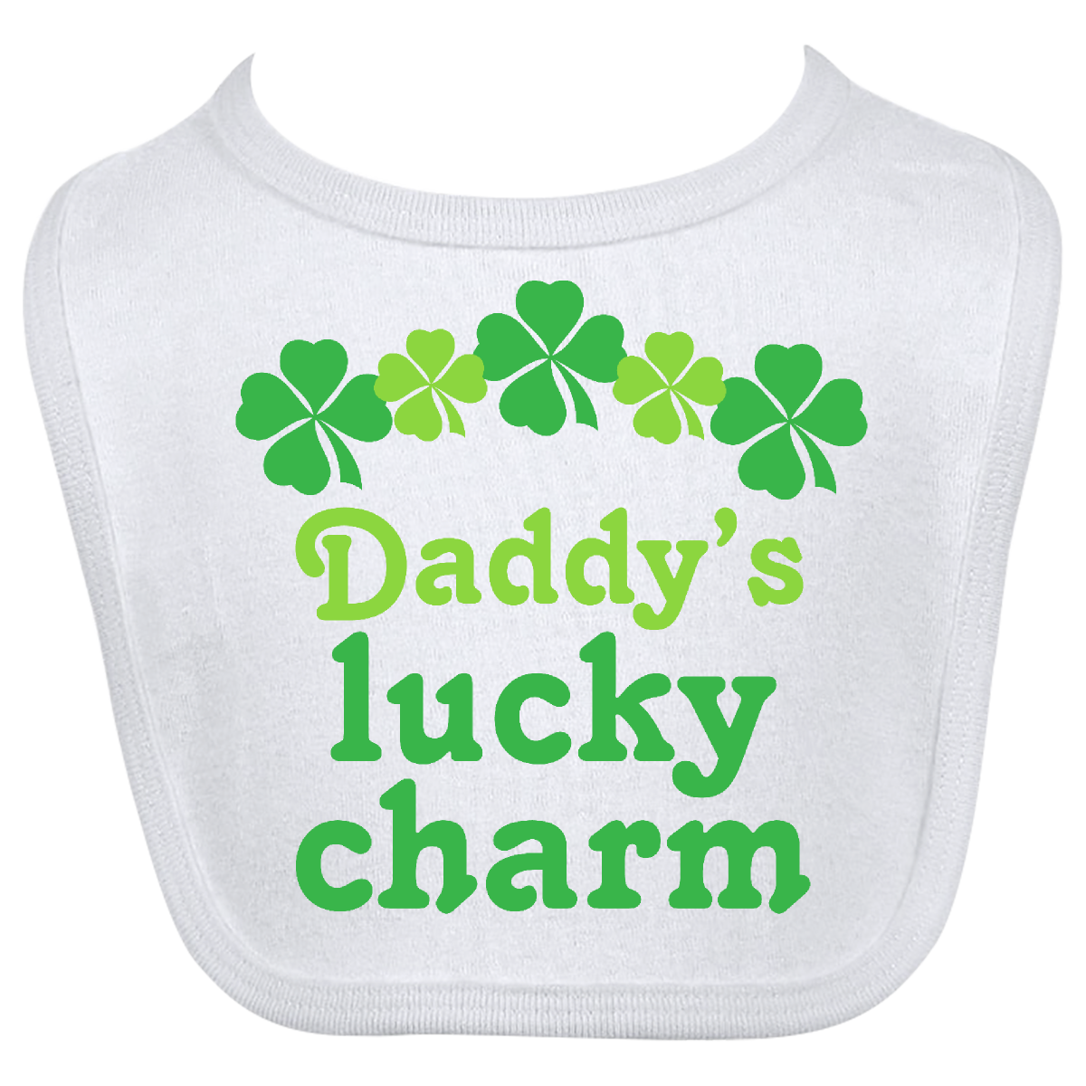 Daddy's Lucky Charm St Patricks Day Baby Bib www.homewiseshopperkids.com #homewiseshopper