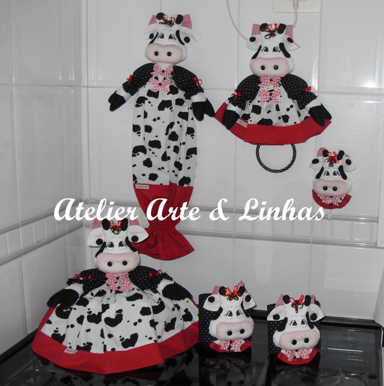 Jogo De Cozinha Vaquinha Pesquisa Google Vacas Pinterest