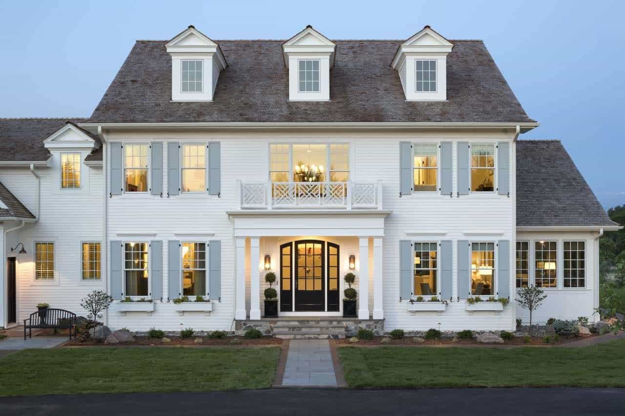 Inside A Serene Inviting Colonial Style Home In The Midwest Colonial Style Homes Home Styles Exterior Colonial House