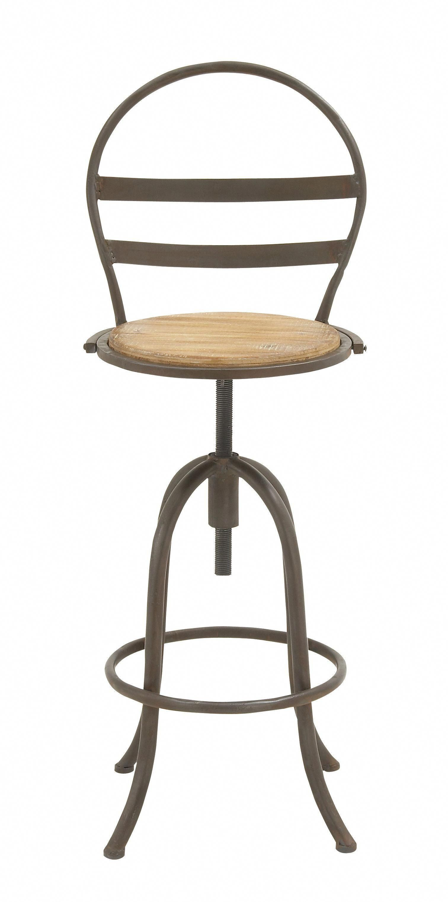 Alluring Metal Wood Bar Chair Awesometaylormadegolfclubs Awesome