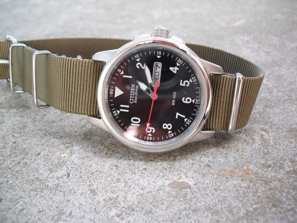 0c53d23802bd Try the Citizen BM8180 as a field watch. With Eco-Drive you don t have to  worry on batteries for a while, it s easy to read the time and date, ...