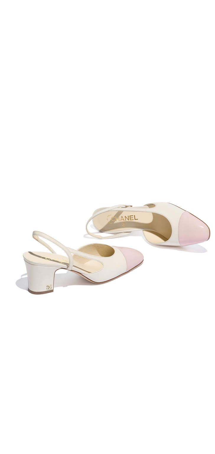 ee91514f6c6 CHANEL - white   pink