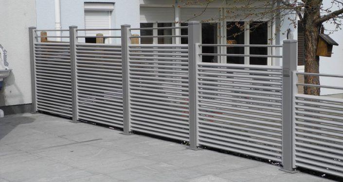 sichtschutz aus aluminium (6) Alu zaun