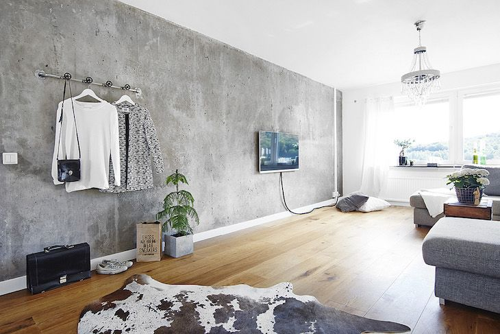 Top 10 Accent Wall Ideas The Best Diy Projects For Your Home Concrete Walls Interior Concrete Walls Bedroom Faux Concrete Wall
