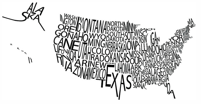 Came across this on the internet a map of the US with the names